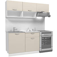 Кухонный гарнитур 1,8 м из 5 модулей МДФ (бежевая)