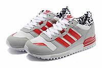 Женские кроссовки Adidas ZX700 Grey/Red/White