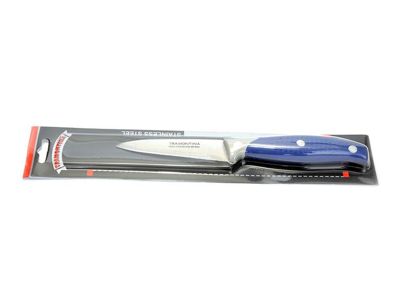 Нож кухонный синяя ручка короткий овощной №1