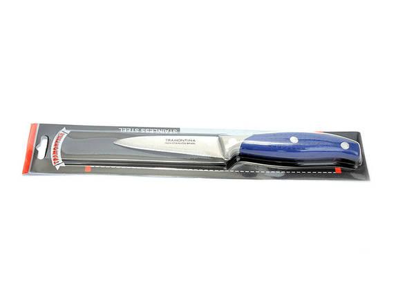 Нож кухонный синяя ручка короткий овощной №1, фото 2