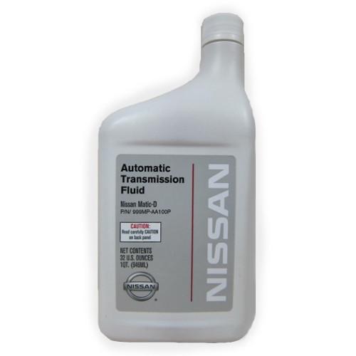 Масло трансмиссионное для АКПП NISSAN ATF MATIC-D 1л Оригинальное трансмиссионное масло NISSAN 999MP-AA100P