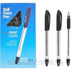 Ручка масляная P500 (1.0мм) черная