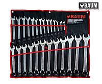 Набор ключей рожково-накидных на полотне 26 пр. 6-32 мм (Baum 30-26M)
