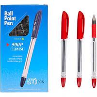 Ручка масляная P500 (1.0мм) красная