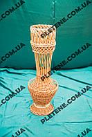 Фигурная ваза из лозы