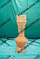 Ваза декорированная плетеная из лозы