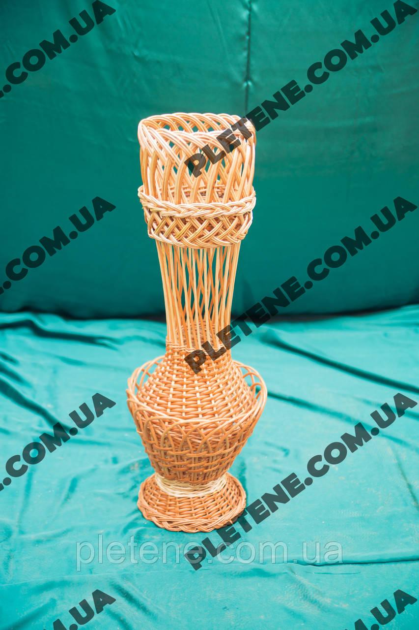 Підлогова ваза плетені з лози
