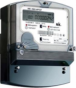 Трехфазный счетчик НІК 2303 АП2Т 1101 3х220 380В - прямого включения 5(60) А - многотарифный