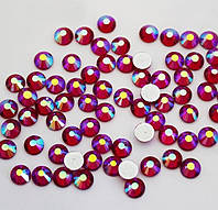 Стразы Siam AB (красный) SS12 (3,0мм) холодной фиксации. Цена за 144 шт, фото 1