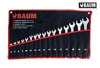 Набор ключей рожково-накидных на полотне 16 пр. 6-27 мм (Baum 30-16M)