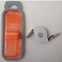 Кабель USB 2в1: Micro USB/Iphone 5/6 (90см) высокая скорость/заглушки Bordelon
