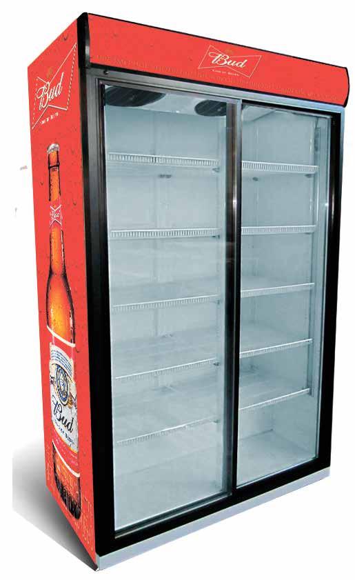 Холодильный шкаф Extra Large 1510л (дверь стеклянная купе) - Tradeholod в Киевской области