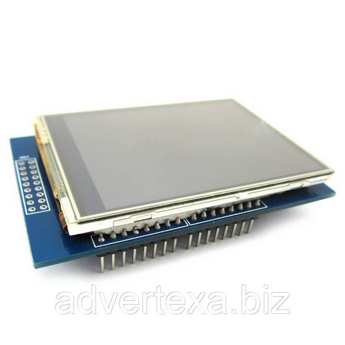 Дисплей 2.8 дюйма TFT с сенсорным экраном для Arduino UNO R3