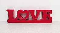 Слово Love из пенопласта