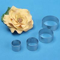 Вырубка для мастики металл Роза 4 шт