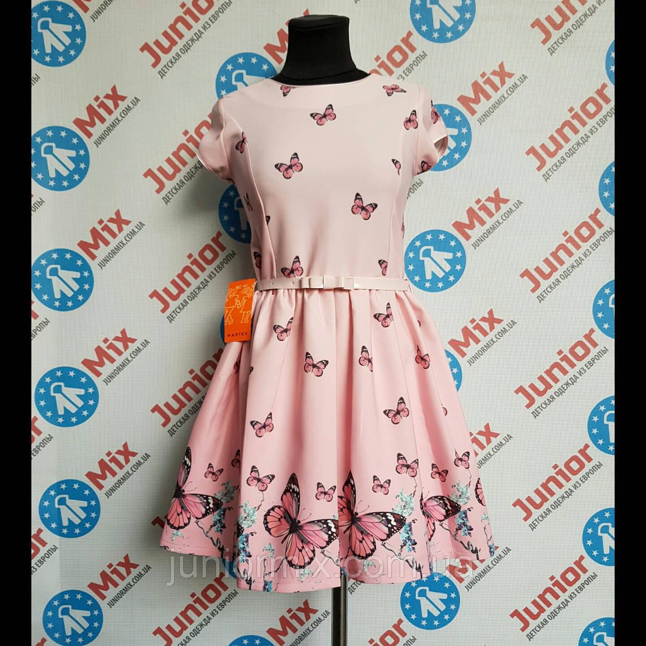 Платье нарядное на девочку  под пояс короткий рукав MARTEX