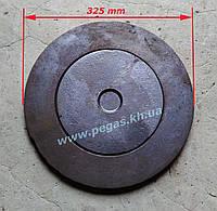 Крышка чугунная для буржуйки 300 мм, фото 1