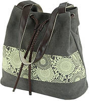 Женская сумка-торба из текстиля Traum 7214-16, темно-серый