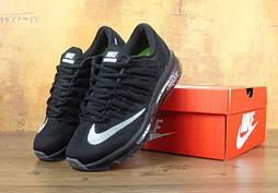 Мужские кроссовки Nike Air Max 2016 black. Живое фото. Топ качество! (Реплика ААА+)