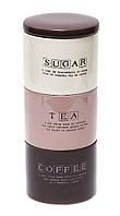 Сет из 3х керамических банок sugar/tea/coffee 850+850+800мл