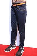 Осенние стрейчевые, темно-синие джинсы для девочек на рост 104-152см. (4-12 лет) Good kids.