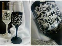 Свадебные бокалы  ручной работы ТЛ-1531
