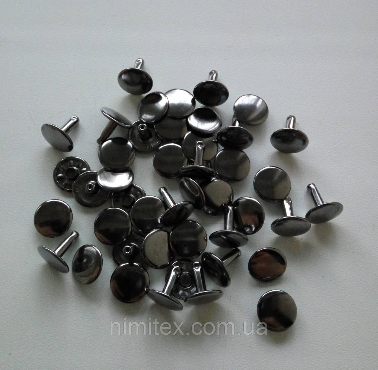 Хольнитен двусторонний 11 мм черный никель