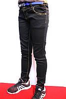 Черные осенние стрейчевые  джинсы для девочек на рост от 104 до 152см. (4-12 лет). Good kids Польша