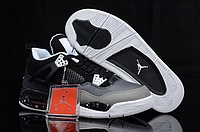 "Кроссовки Nike Air Jordan IV Retro ""Black/Grey"", фото 1"