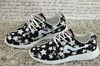 Черно-белые кроссовки  39р