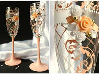 Свадебные бокалы  ручной работы ТЛ-1567