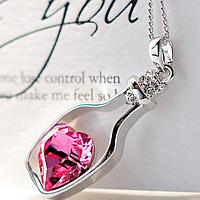 Кулон сердце в бутылочке для модных девушек