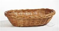 Корзинка плетеная для хлеба овальная 28х18х6 см HoReCa (Украина)