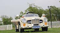 Детский электромобиль Rollce Royce 118 RETRO - БЕЖЕВАЯ