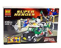 Конструктор Bela серия Super heroes 10239 Паук против Доктора Осьминога (аналог Lego Super Heroes 76015)