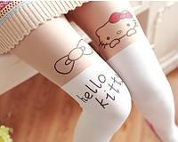 """Колготки капроновые белые подростковые """"Hello Kitty"""""""