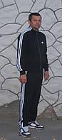Мужской спортивный костюм Adidas! Адидас классика цвет черный!, фото 1