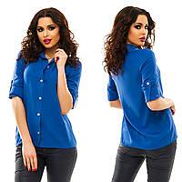 Рубашка женская штапель 9 цветов АНД097, фото 1