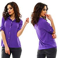 Рубашка женская деловая штапель 9 цветов АНД097, фото 1