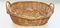 Корзинка плетеная для хлеба овальная с ручками 28х18х8 см HoReCa (Украина)