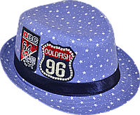 Шляпа  детская Звезды  красивая на мальчика, девочку  для праздника или утренника с вышивкой модная, стильная