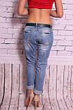 Женские турецкие джинсы бойфренды с вышивкой (код 8807), фото 3