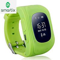 Детские умные смарт часы Smart Baby Watch Q50 с GPS трекером для отслеживания (зеленые). Русский язык! Киев.