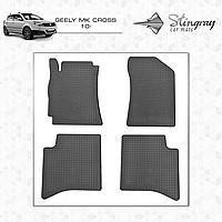 Коврики резиновые в салон Geely MK Cross c 2010 (4шт) Stingray