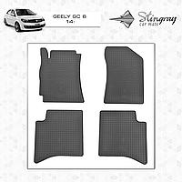 Коврики резиновые в салон Geely GC 6 c 2014 (4шт) Stingray