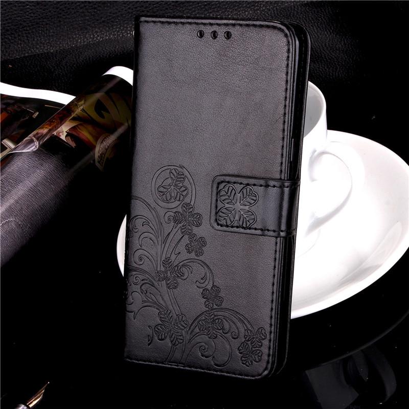 Чехол Meizu M5S книжка Clover черный
