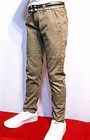 Весенние, стрейчевые котоновые брюки песочного цвета, для мальчиков от 4 до 12 лет. (Весна-2017г) Польша.