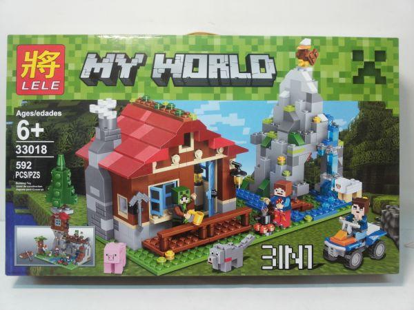 Конструктор Lele серия My World 33018 Хижина в горах 3в1 (аналог Lego Майнкрафт, Minecraft)