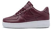 Женские кроссовки Nike Air Force 1 Low (Найк Аир Форс низкие) бордовые