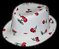 Шляпа  детская Вишенка  с  лентами  красивая на мальчика, девочку  для праздника или утренника  в детский сад